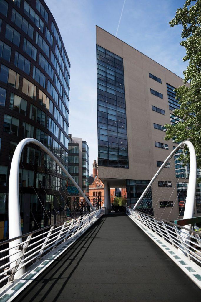 Anti Slip Grip Mat running across a walkway bridge