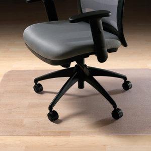 Desk chair on a hard floor chair mat