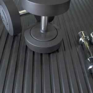 Dumbbells ontpop of a gym Mat