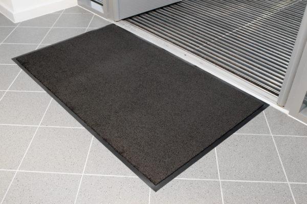 Plush Carpet Doormat inside door entrance