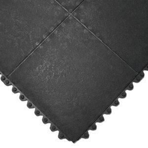 Black Solid Gym Tile