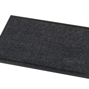 Black Superior Fire Tested Doormat on white background
