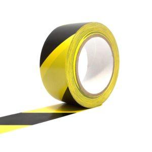 Hazardous tape roll on white background
