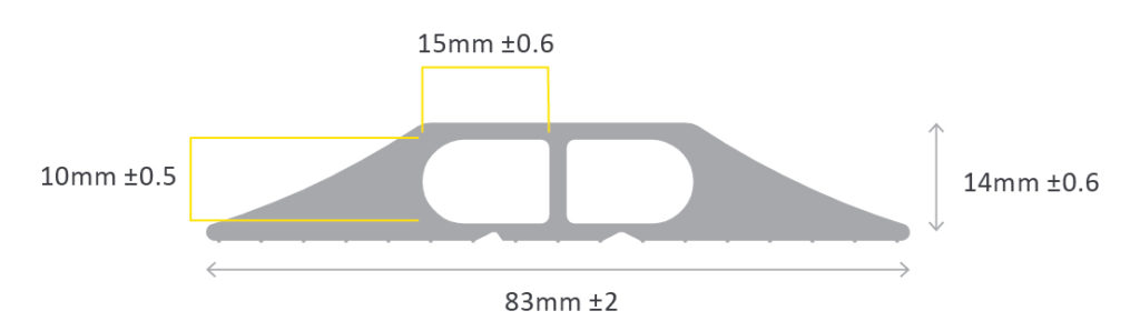 Diagram showing lengths of Data 1 cable protector