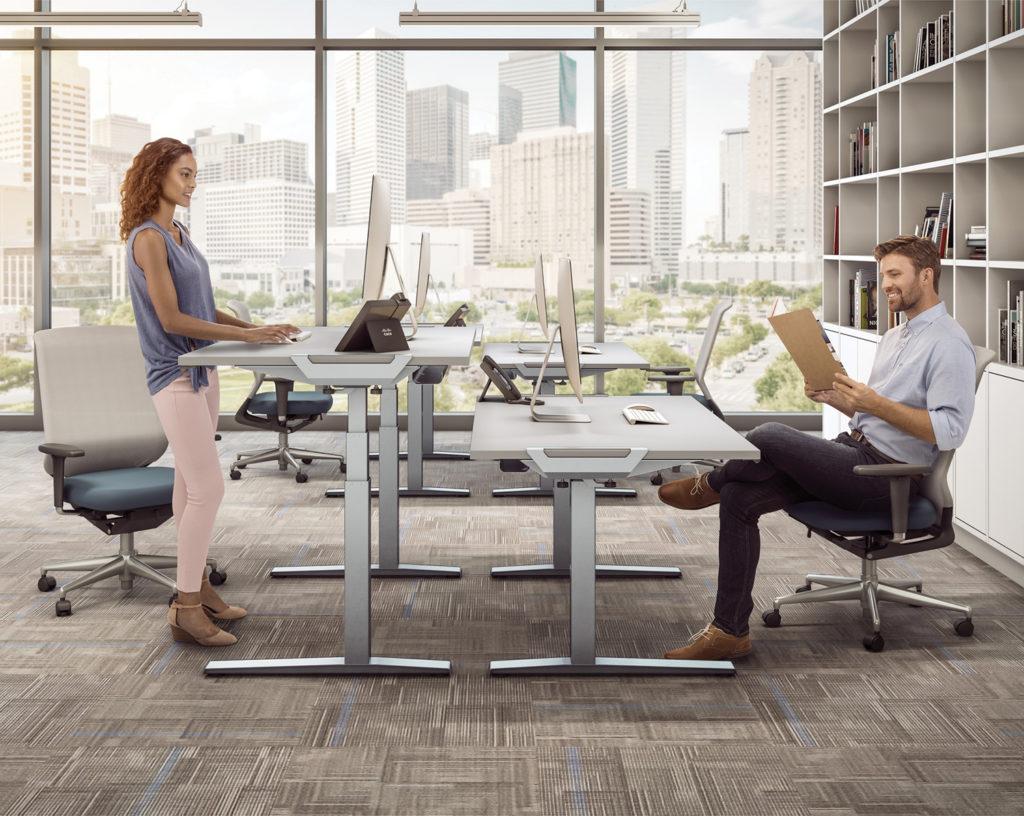 Standing vs. sitting desk